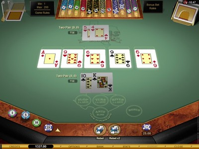 Microgaming Texas Hold'em Bonus Online Poker