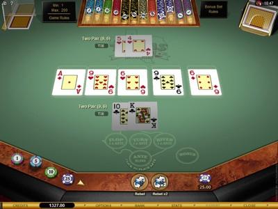Microgaming Texas Hold'em Bonus Online Poker