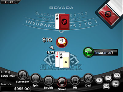 Unravelling Insurance Bet in Online Blackjack