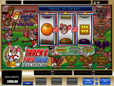Track And Field Mouse Olympics Themed Online Pokie