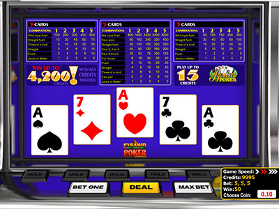 Pyramid Video Poker From Betsoft