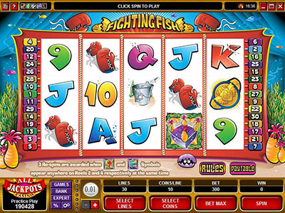 Fighting Fish Spar at Microgaming Gambling Sites