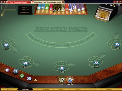 An Exciting Three Card Online Poker Game