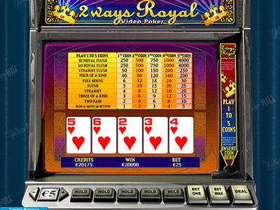 Playtech Two Ways Royal Online Video Poker