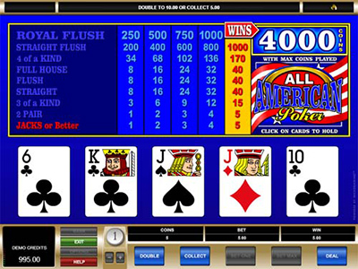 Online Video Poker Hands With A Difference