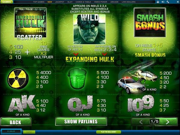 Free Casino Hulk