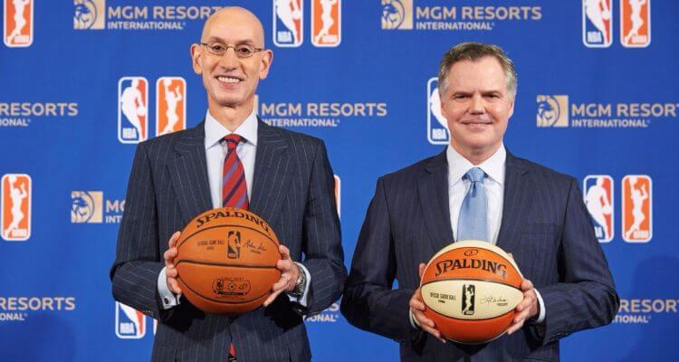 MGM Resorts shares are on the rise after announcing first gaming partnership with NBA